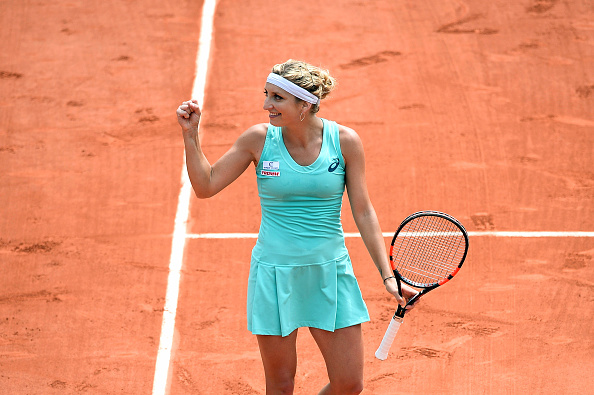 Timea Bacsinszky during the Women's Singles third round on day seven of the French Open 2016 on May 28, 2016 in Paris, France. (Photo by Nolwenn Le Gouic/Icon Sport) (Photo by Nolwenn Le Gouic/Icon Sport via Getty Images)