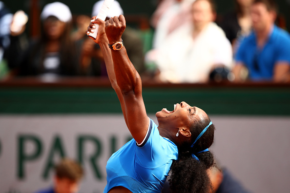 during the **** Singles third round match against **** on day seven of the 2016 French Open at Roland Garros on May 28, 2016 in Paris, France.