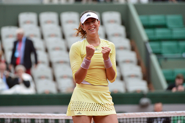 Victory for Garbine Muguruza during day eleven of the French Open 2016 at Roland Garros on June 1, 2016 in Paris, France. (Photo by Dave Winter/Icon Sport) (Photo by Dave Winter/Icon Sport via Getty Images)