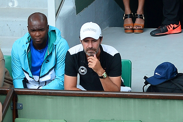 Patrick Mouratoglou coach of Serena Williams during the Women's Singles third round on day seven of the French Open 2016 on May 28, 2016 in Paris, France. (Photo by Nolwenn Le Gouic/Icon Sport) (Photo by Nolwenn Le Gouic/Icon Sport via Getty Images)