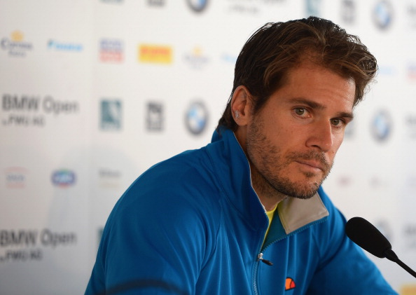 MUNICH, GERMANY - MAY 01:  Tommy Haas of Germany looks on during a press conference after his match against Alejandro Falla of Colombia during the BMW Open on May 1, 2014 in Munich, Germany.  (Photo by Dennis Grombkowski/Getty Images)