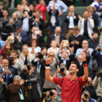 PARIS, FRANCE - JUNE 05:  Novak Djokovic of Serbia celebrates victory during the Men's Singles final match against Andy Murray of Great Britain on day fifteen of the 2016 French Open at Roland Garros on June 5, 2016 in Paris, France.  (Photo by Dennis Grombkowski/Getty Images)