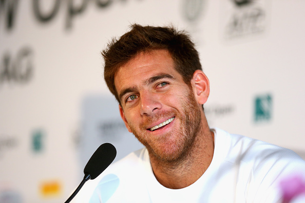 MUNICH, GERMANY - APRIL 25:  Juan Martin del Potro of Argentina smiles during a press conference during the BMW Open at Iphitos tennis club on April 25, 2016 in Munich, Germany.  (Photo by Alexander Hassenstein/Getty Images For BMW)