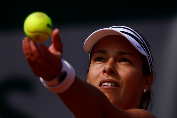 Ana Ivanovic of Serbia during the Ladies Singles third round match against Elina Svitolina of Ukraine on day seven of the 2016 French Open at Roland Garros on May 28, 2016 in Paris, France. (Photo by Mehdi Taamallah/NurPhoto via Getty Images)