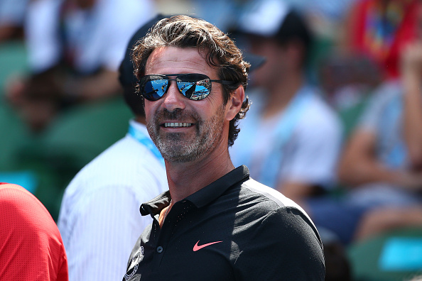 MELBOURNE, AUSTRALIA - JANUARY 26:  Coach of Serena Williams of the United States, Patrick Mouratoglou watches her quarter final match against Maria Sharapova of Russia during day nine of the 2016 Australian Open at Melbourne Park on January 26, 2016 in Melbourne, Australia.  (Photo by Scott Barbour/Getty Images)