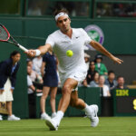 **** during the ****  against **** on day one of the Wimbledon Lawn Tennis Championships at the All England Lawn Tennis and Croquet Club on June 27th, 2016 in London, England.