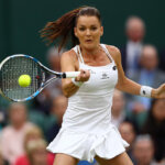 **** during the **** against **** on day three of the Wimbledon Lawn Tennis Championships at the All England Lawn Tennis and Croquet Club on June 29, 2016 in London, England.
