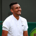 LONDON, ENGLAND - JUNE 28:  Nick Kyrgios of Australia looks on during the Men's Singles first round match against Radek Stepanek of The Czech Republic on day two of the Wimbledon Lawn Tennis Championships at the All England Lawn Tennis and Croquet Club on June 28, 2016 in London, England.  (Photo by Adam Pretty/Getty Images)