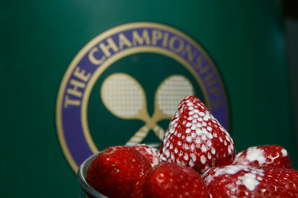 Strawberries at Wimbledon, on Day 9 of the 2009 WImbledon Tennis Championships at the All England Lawn Tennis and Croquet Club in Wimbledon, London, UK (Photo by ben radford/Corbis via Getty Images)