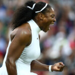 LONDON, ENGLAND - JULY 01:  Serena Williams of The United States reacts during the Ladies Singles second round match against  Christina McHale of the United States on day five of the Wimbledon Lawn Tennis Championships at the All England Lawn Tennis and Croquet Club on July 1, 2016 in London, England.  (Photo by Clive Brunskill/Getty Images)