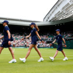 during day one of the Wimbledon Lawn Tennis Championships at the All England Lawn Tennis and Croquet Club on June 29, 2015 in London, England.