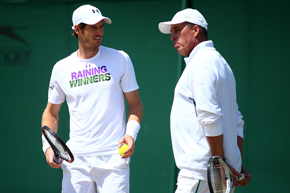 LONDON, ENGLAND - JULY 07:  Andy Murray of Great Britain and Ivan lendl in conversation during practice on day ten of the Wimbledon Lawn Tennis Championships at the All England Lawn Tennis and Croquet Club on July 7, 2016 in London, England.  (Photo by Jordan Mansfield/Getty Images)