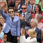 LONDON, ENGLAND - JULY 02:  Billie Jean King and John McEnroe attend day six of the Wimbledon Tennis Championships at Wimbledon on July 02, 2016 in London, England.  (Photo by Karwai Tang/WireImage)