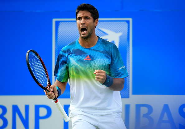 LONDON, ENGLAND - JUNE 14:  Fernando Verdasco of Spain celebrates winning a point during his first round match against Stan Wawrinka of Switzerland on day two of the Aegon Championships at The Queens Club on June 14, 2016 in London, England.  (Photo by Ben Hoskins/Getty Images)