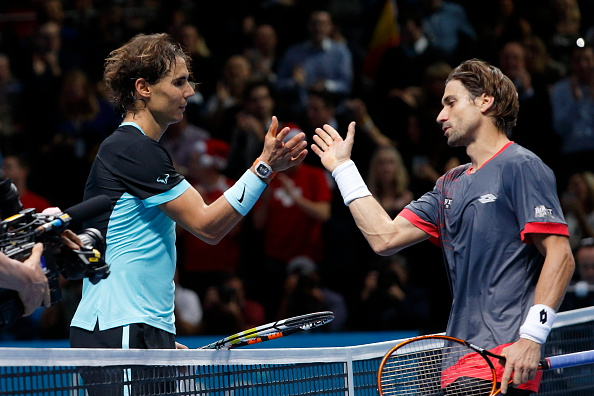 Rafael Nadal vs David Ferrer during Day 6 of the 2015 Barclays ATP World Tour Finals - O2 Arena London England. 20 November 2015 --- Image by ?? Paul Cunningham/Corbis (Photo by Paul Cunningham/Corbis via Getty Images)