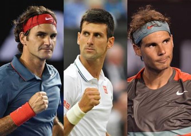 Доминацията на Федерер, Надал и Джокович в числа