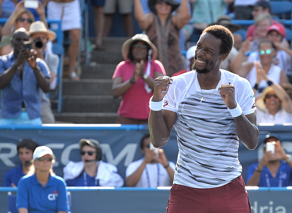 WASHINGTON, DC - JULY 24:  Gael Monfils of France reacts after the final point of his 5-7, 7-6, 6-4 win against Ivo Karlovic in the men's singles final of the Citi Open at Rock Creek Tennis Center on July 24, 2016 in Washington, DC.  (Photo by Grant Halverson/Getty Images)