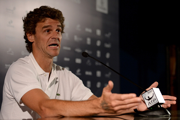 RIO DE JANEIRO, BRAZIL - FEBRUARY 15:  Brazilian former player Gustavo Kuerten attends a press conference during a ATP Rio Open 2016 at Jockey Club Rio de Janeiro on February 15, 2016 in Rio de Janeiro, Brazil.  (Photo by Buda Mendes/Getty Images)