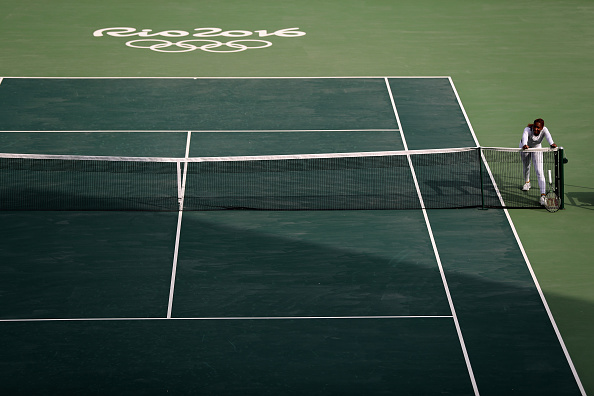 ahead of the 2016 Summer Olympic Games at the Olympic Tennis Centre on August 3, 2016 in Rio de Janeiro, Brazil.