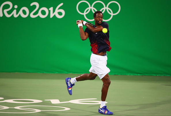 on Day 3 of the Rio 2016 Olympic Games at the Olympic Tennis Centre on August 8, 2016 in Rio de Janeiro, Brazil.