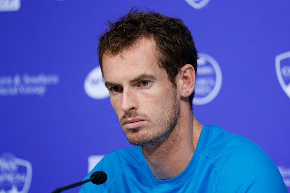 MASON, OH - AUGUST 16: Andy Murray of Great Britain speaks to the media on Day 4 of the Western & Southern Open at the Lindner Family Tennis Center on August 16, 2016 in Mason, Ohio. (Photo by Joe Robbins/Getty Images)