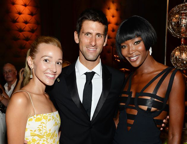 NEW YORK, NY - SEPTEMBER 10: Executive Director of the Novak Djokovic Foundation Jelena Ristic, Founding Chairman of the Novak Djokovic Foundation Novak Djokovic, and model/event chair Naomi Campbell attend the Novak Djokovic Foundation New York dinner at Capitale on September 10, 2013 in New York City.  (Photo by Dimitrios Kambouris/Getty Images for Novak Djokovic Foundation)
