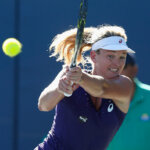 STANFORD, CA - JULY 22: CoCo Vandeweghe of the United States competes against Alison Riske of the United States during day five of the Bank of the West Classic at the Stanford University Taube Family Tennis Stadium on July 22, 2016 in Stanford, California. (Photo by Lachlan Cunningham/Getty Images)