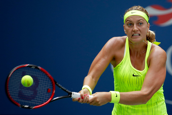 NEW YORK, NY - AUGUST 31:  Petra Kvitova of the Czech Republic returns a shot to Cagla Buyukakcay of Turkey during her second round Women's Singles match on Day Three of the 2016 US Open at the USTA Billie Jean King National Tennis Center on August 31, 2016 in the Flushing neighborhood of the Queens borough of New York City.  (Photo by Andy Lyons/Getty Images)