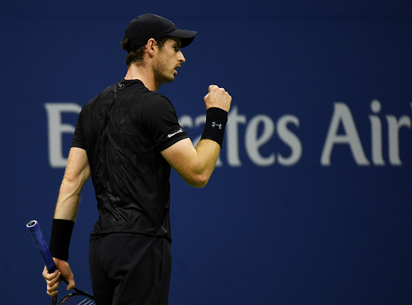 NEW YORK, NY - AUGUST 30:  Andy Murray of Great Britain reacts during his first round Men's Singles match against Lukas Rosol of the Czech Republic on Day Two of the 2016 US Open at the USTA Billie Jean King National Tennis Center on August 30, 2016 in the Flushing neighborhood of the Queens borough of New York City.  (Photo by Mike Hewitt/Getty Images)