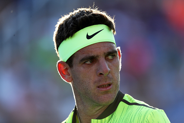 NEW YORK, NY - AUGUST 30:  Juan Martin del Potro of Argentina looks on against Diego Schwartzman of Argentina during his first round Men's Singles match on Day Two of the 2016 US Open at the USTA Billie Jean King National Tennis Center on August 30, 2016 in the Flushing neighborhood of the Queens borough of New York City.  (Photo by Elsa/Getty Images)
