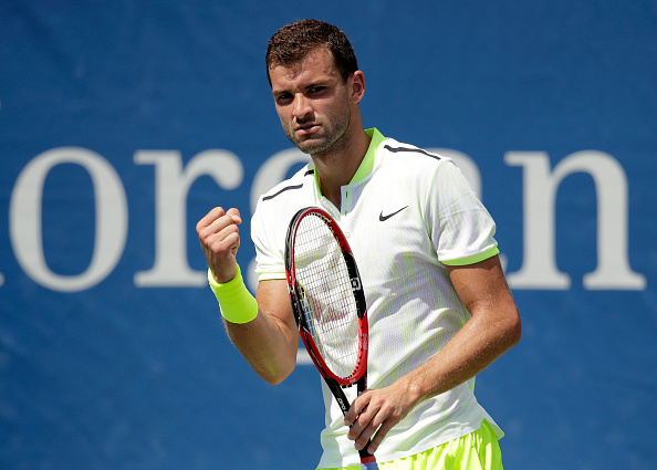 NEW YORK, NY - AUGUST 30:  Grigor Dimitrov of Bulgaria reacts against Inigo Cervantes of Spain during his first round Men's Singles match on Day Two of the 2016 US Open at the USTA Billie Jean King National Tennis Center on August 30, 2016 in the Flushing neighborhood of the Queens borough of New York City.  (Photo by Andy Lyons/Getty Images)