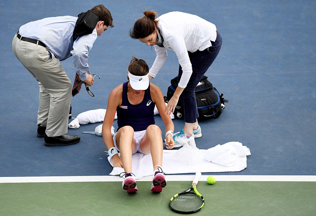 on Day Three of the 2016 US Open at the USTA Billie Jean King National Tennis Center on August 31, 2016 in the Flushing neighborhood of the Queens borough of New York City.