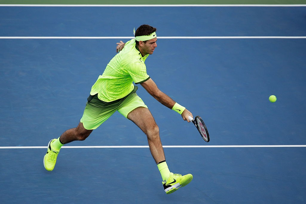 NEW YORK, NY - SEPTEMBER 03:  Juan Martin del Potro of Argentina returns a shot to David Ferrer of Spain during his third round Men's Singles match on Day Six of the 2016 US Open at the USTA Billie Jean King National Tennis Center on September 3, 2016 in the Flushing neighborhood of the Queens borough of New York City.  (Photo by Andy Lyons/Getty Images)