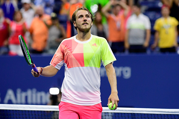 NEW YORK, NY - SEPTEMBER 04:  Lucas Pouille of France reacts against Rafael Nadal of Spain during his fourth round Men's Singles match on Day Seven of the 2016 US Open at the USTA Billie Jean King National Tennis Center on September 4, 2016 in the Flushing neighborhood of the Queens borough of New York City.  (Photo by Steven Ryan/Getty Images)