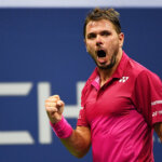 NEW YORK, NY - SEPTEMBER 07:  Stan Wawrinka of Switzerland reacts against Juan Martin del Potro of Argentina during their Men's Singles Quarterfinals Match on Day Ten of the 2016 US Open at the USTA Billie Jean King National Tennis Center on September 7, 2016 in the Flushing neighborhood of the Queens borough of New York City.  (Photo by Alex Goodlett/Getty Images)
