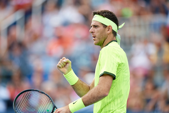 Tennis: US Open: Argentina Juan Martin Del Potro victorious during Men's 3rd Round match vs Spain David Ferrer at BJK National Tennis Center. Flushing, NY 9/3/2016 CREDIT: Carlos M. Saavedra (Photo by Carlos M. Saavedra /Sports Illustrated/Getty Images) (Set Number: SI524 TK6 )