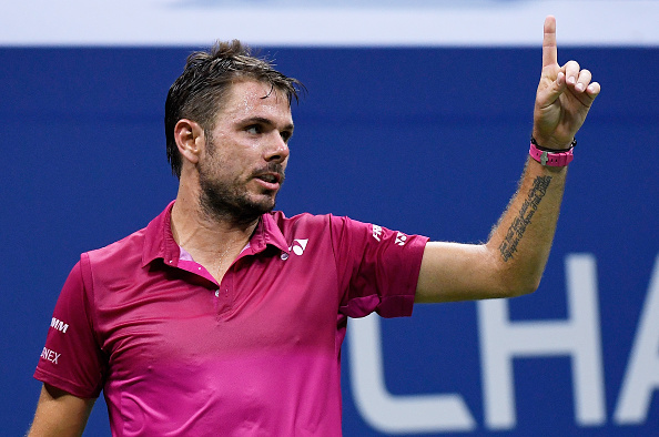 NEW YORK, NY - SEPTEMBER 07:  Stan Wawrinka of Switzerland reacts against Juan Martin del Potro of Argentina during their Men's Singles Quarterfinals Match on Day Ten of the 2016 US Open at the USTA Billie Jean King National Tennis Center on September 7, 2016 in the Flushing neighborhood of the Queens borough of New York City.  (Photo by Mike Hewitt/Getty Images)