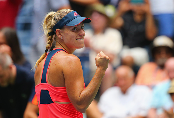 NEW YORK, NY - SEPTEMBER 06:  Angelique Kerber of Germany celebrates after defeating Roberta Vinci of Italy during their Women's Singles Quarterfinal Matchon Day Nine of the 2016 US Open at the USTA Billie Jean King National Tennis Center on September 6, 2016 in the Queens borough of New York City.  (Photo by Mike Stobe/Getty Images for USTA)