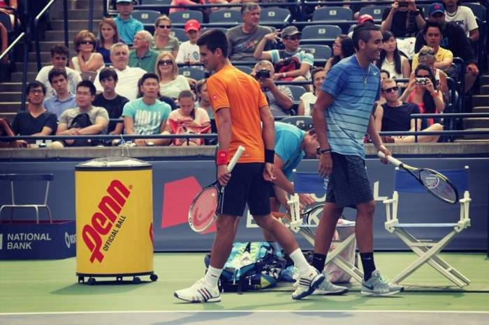 nick-kyrgios-hits-with-djokovic-federer-hewitt-matosevic-and-dancevic-in-toronto