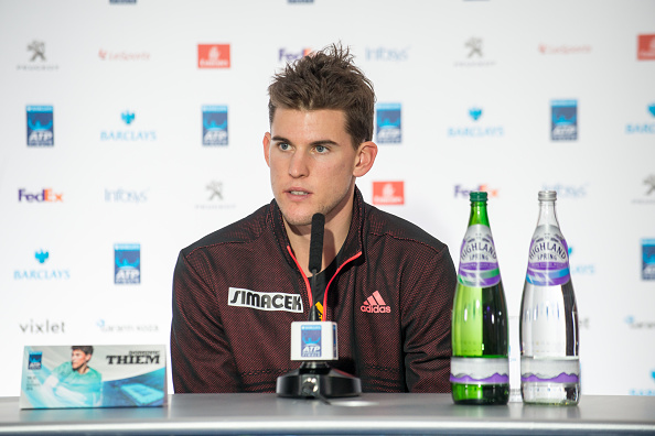 THE O2, LONDON, UNITED KINGDOM - 2016/11/11: ATP World number 7 Dominic Thiem (AUT) talks to the press in the Media Day of ATP World Tour Finals at the O2. (Photo by Alberto Pezzali/Pacific Press/LightRocket via Getty Images)