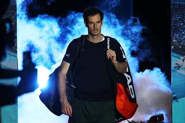 LONDON, ENGLAND - NOVEMBER 20:  Andy Murray of Great Britain walks out onto court prior to the Singles Final against Novak Djokovic of Serbia at the O2 Arena on November 20, 2016 in London, England.  (Photo by Clive Brunskill/Getty Images)