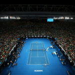 MELBOURNE, AUSTRALIA - JANUARY 16:  A general view of Rod Laver Arena during the round one mens match between Jurgen Melzer of Austria and Roger Federer of Switzerland on day one of the 2017 Australian Open at Melbourne Park on January 16, 2017 in Melbourne, Australia.  (Photo by Cameron Spencer/Getty Images)