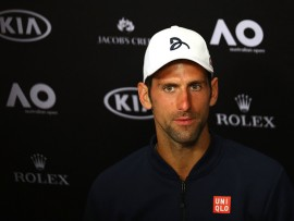 MELBOURNE, AUSTRALIA - JANUARY 19:  Novak Djokovic of Serbia talks to the media at a press conference following his second round loss to Denis Istomin of Uzbekistan on day four of the 2017 Australian Open at Melbourne Park on January 19, 2017 in Melbourne, Australia.  (Photo by Ryan Pierse/Getty Images)