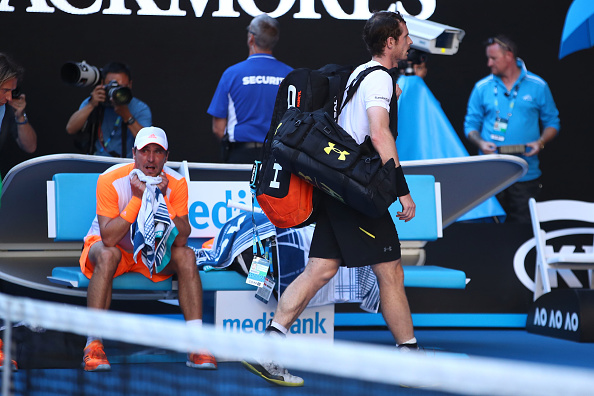 XXX of ZZZ plays a XXXX in his/her fourth round match against XXXX of ZZZZ on day seven of the 2017 Australian Open at Melbourne Park on January 22, 2017 in Melbourne, Australia.