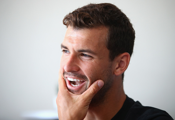 MONTE-CARLO, MONACO - APRIL 16:  Grigor Dimitrov of  Bulgaria talks to the media during a press conference on day one of the Monte Carlo Rolex Masters at Monte-Carlo Sporting Club on April 16, 2017 in Monte-Carlo, Monaco.  (Photo by Clive Brunskill/Getty Images)