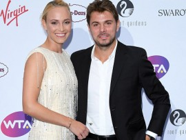 LONDON, ENGLAND - JUNE 29:  Donna Vekic and Stan Wawrinka attend the WTA Pre-Wimbledon party at Kensington Roof Gardens on June 29, 2017 in London, England.  (Photo by Karwai Tang/WireImage)