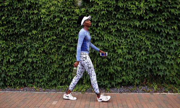 Venus Williams on day twelve of the Wimbledon Championships at The All England Lawn Tennis and Croquet Club, Wimbledon. (Photo by John Walton/PA Images via Getty Images)