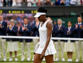 xxxx on day twelve of the Wimbledon Lawn Tennis Championships at the All England Lawn Tennis and Croquet Club at Wimbledon on July 15, 2017 in London, England.