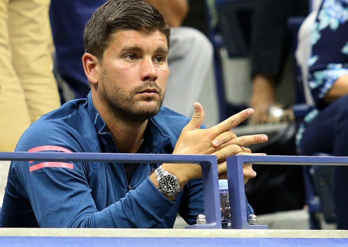 NEW YORK, NY - SEPTEMBER 5: Daniel Vallverdu. coach of Grigor Dimitrov of Bulgaria attends his match during day 8 of the 2016 US Open at USTA Billie Jean King National Tennis Center on September 5, 2016 in New York City. (Photo by Jean Catuffe/Getty Images)