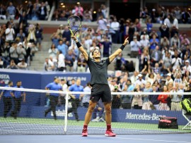 2017 U.S. Open Tennis Tournament - DAY FOURTEEN.  Rafael Nadal of Spain celebrates winning the Men's Singles Final defeating Kevin Anderson of South Africa at the US Open Tennis Tournament at the USTA Billie Jean King National Tennis Center on September 10, 2017 in Flushing, Queens, New York City.  (Photo by Tim Clayton/Corbis via Getty Images)